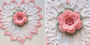Coeur Rose au Crochet