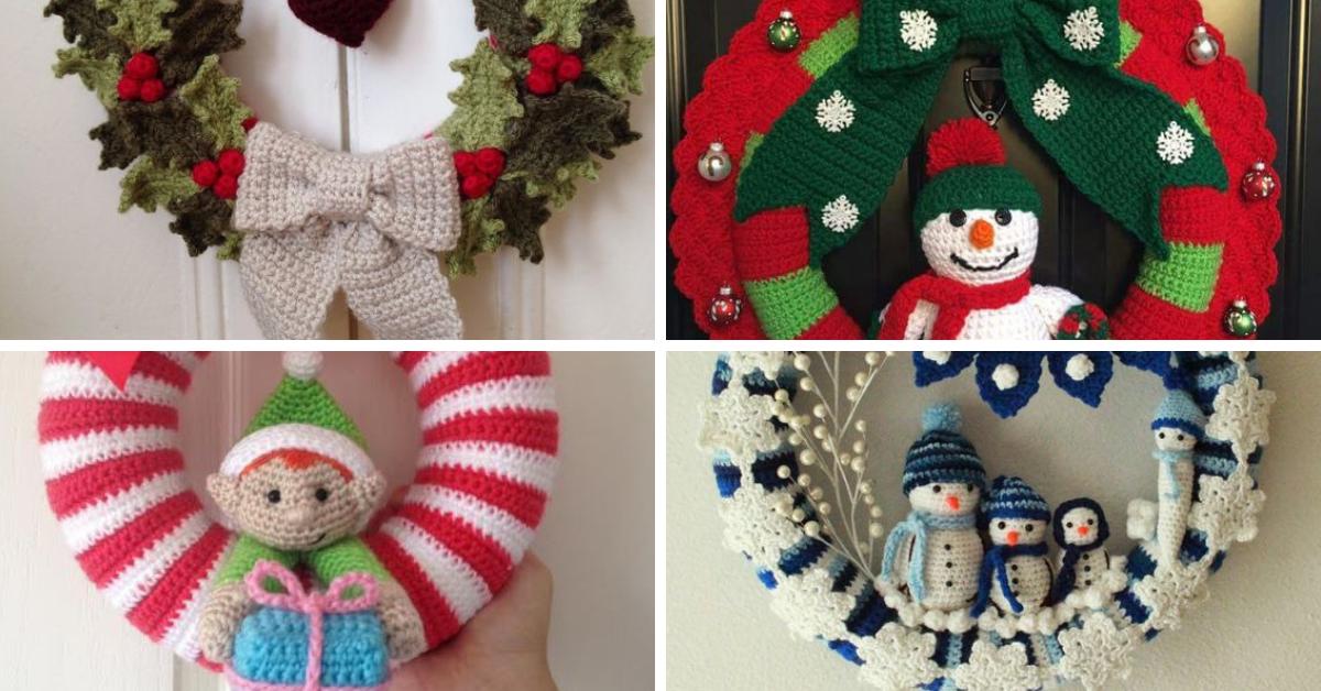 Couronne de Noël au Crochet