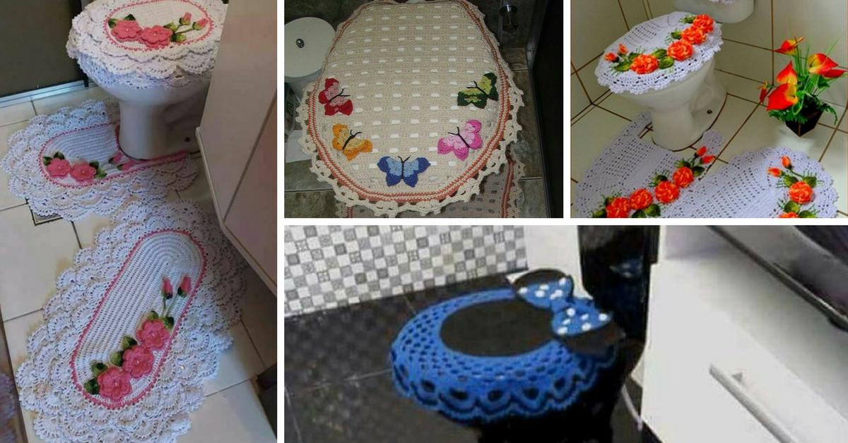 10 jeux de salle de bain au crochet. Black Bedroom Furniture Sets. Home Design Ideas