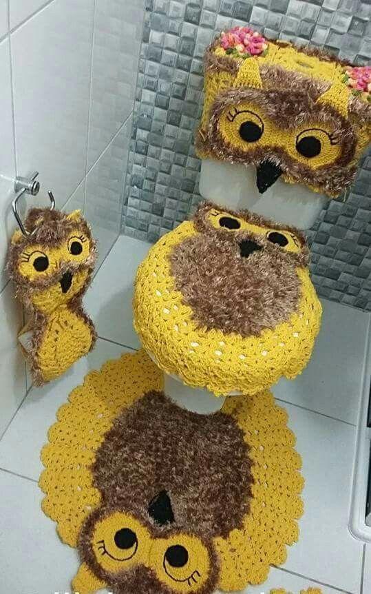 10 jeux de salle de bain au crochet for Crochet salle de bain design