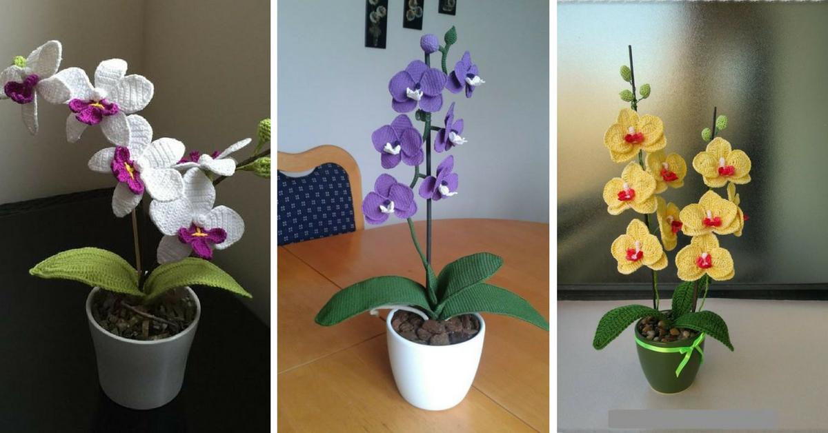 Tuto Orchidee Au Crochet