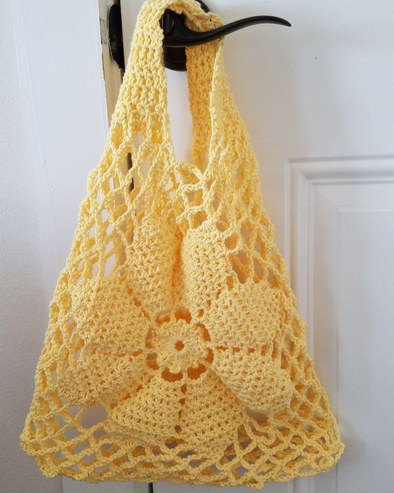 Tuto Crochet Sac Facile Tissé à Crochet